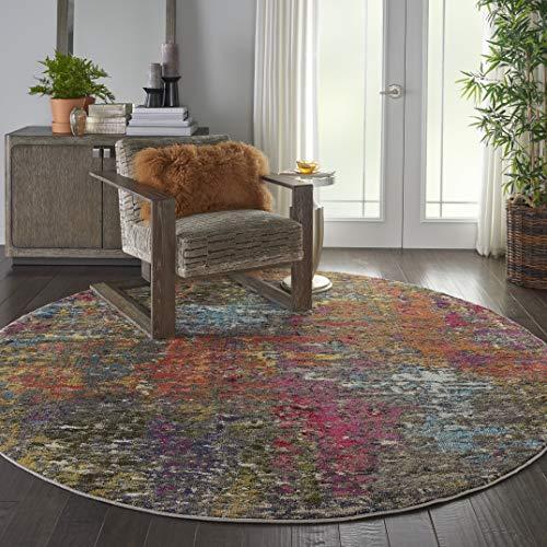 Eine Marke von Amazon - Movian Dospat - Runder Teppich, 238,8x238,8cm, Geometrisches Muster