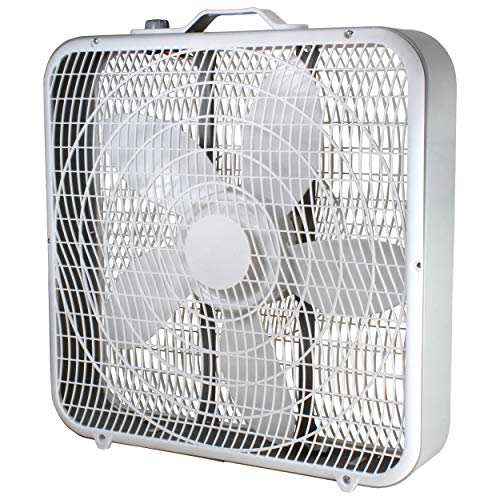 Comfort Zone CZ200A 20' 3-Speed Box Fan for Full-Force Air...