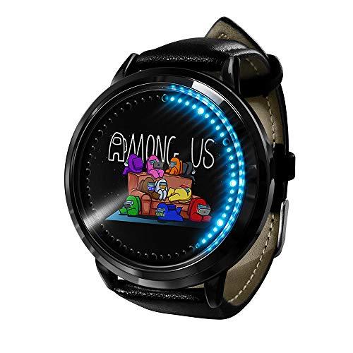 Among Us Reloj Reloj LED Pantalla táctil a Prueba de Agua Luz Digital Reloj Reloj de Pulsera Unisex Cosplay Regalo Nuevos Relojes de Pulsera Regalo para niños-A01