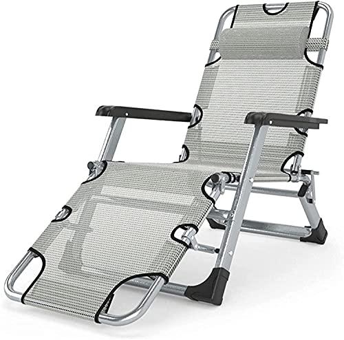 Tumbonas, sillón plegable Zero Gravity Lounge, cama de playa portátil de gran tamaño de 26.4 'de ancho, cama de oficina para dormir, sillón de bronceado exterior, capacidad de carga de 440 libras