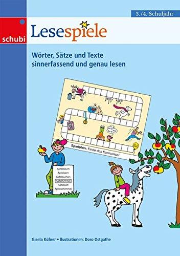 Lernspiele für den Deutschunterricht: Lesespiele 3/4: 3. / 4. Schuljahr: 15 Lernspiele rund ums Lesen