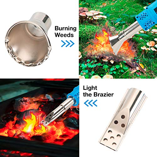 ebasic Electric Thermal Weeder, Weed Burner 2000W Compact Weed Burner 3 in 1 Hot Air Weed Torch Barbecue Lighter Garden Gear Weed Burner for Garden Weed Torch Maximum Temperature 650℃