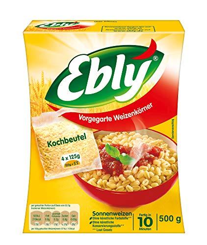 Ebly Sonnenweizen, 10 Minuten Kochbeutel, 6 Packungen (6 x 500g)