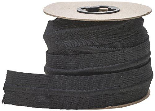 PEARL Draw Cord Elastic, 1-1/4' to 10 yd, Black
