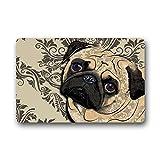 Hi,Doormat Crseative Design Best funny cute pug dog Home Door Mats Doormat Mat 23.6 x 15.7 Inch Bathroom Kitchen Decor Area Rug/Floor Mat 23.6 X 15.7 Inch