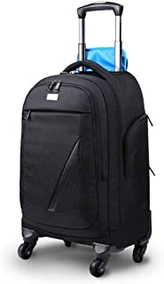 Flywheel Wheeled Business Laptop Travel Portable Trolley Backpack, Nylon Waterproof Package Backpack Is Very Suitable For High School, College Student Bag, Travel Backpack, Carry Bag For Men And Women
