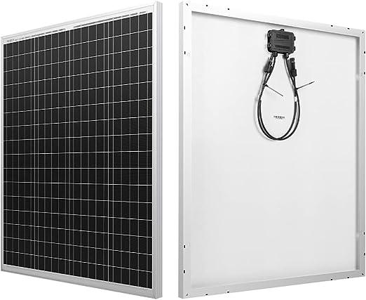 HQST 100 Watt Polycrystalline 12V Solar Panel Module -1 Pack