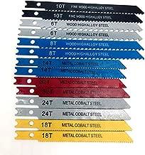 Michaefeld 14pcs U-shank Jig saw Blade Set Assorted Metal Steel Jigsaw Blade Fitting For Plastic Wood Cutting Tools