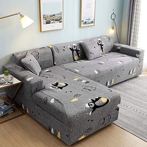 FYBDZCN Sofá Slipcovers Elasticidad Jacquard Cubiertas De Sofá Forma L Sofá Sofá Cubre Esquina Sofá Protección De Muebles Cubrir Q Sofá-3 Plazas190-230cm(75-91inch)