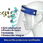 Pantalla Protección Facial - 10 Pcs Protector Facial de Seguridad, Cómoda, Visera Ajustable, Reutili... #2