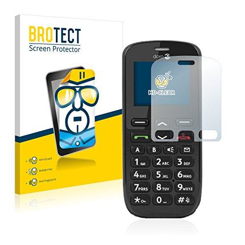 BROTECT Schutzfolie kompatibel mit Doro PhoneEasy 508 (2 Stück) klare Bildschirmschutz-Folie