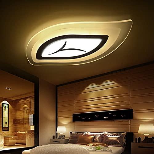 Luz De Techo LED Creativa, Control Remoto De 48W Lámpara De Techo De Hoja De Techo Nórdica Moderno Comedor Sala De Estar Iluminación Luz De Techo 65 * 40 Cm