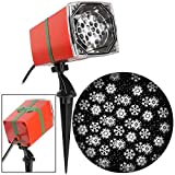LightShow Swirling White LED Snowflakes Christmas Indoor/Outdoor