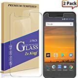 Zeking Tempered Glass Screen Protector Compatible with ZTE Blade Force N9517-2 Pack