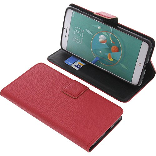 foto-kontor Tasche für Archos Diamond Alpha Plus Book Style rot Schutz Hülle Buch