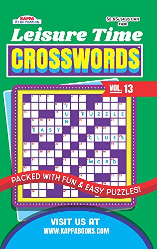 Leisure Time Crossword Puzzle Book-Volume 13