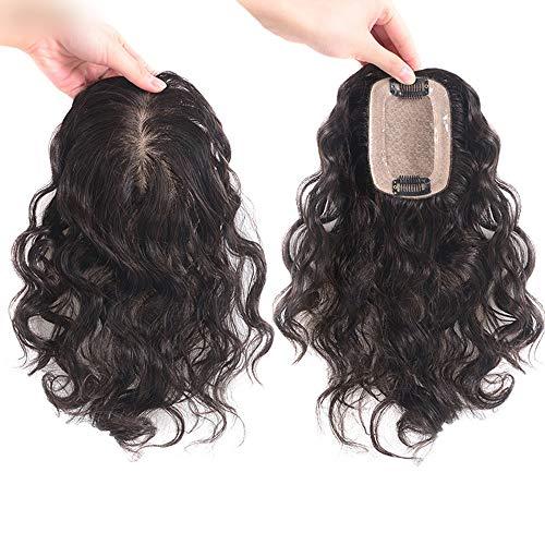 Yongyu Chenzinan Courte Perruque ondulée Femmes Pleine de Tissage à la Main Aiguilles réel Cheveux bouclés cheveaux Naturel Brunette Top Remplacement Bloc Invisible Perruque