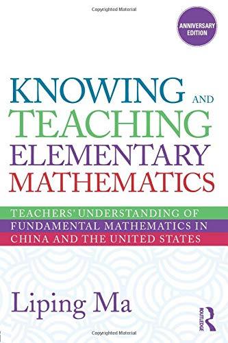 Knowing and Teaching Elementary Mathematics: Teachers'...