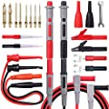 Bionso 25-Piece Multimeter Leads Kit, Professional and Upgraded Test Leads Set with Replaceable Gold-Plated Multimeter Probes, Alligator Clips, Test Hooks and Back Probe Pins.