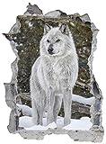 Wolf Wald Schnee Natur Wandtattoo Wandsticker Wandaufkleber E0148 Größe 46 cm x 62 cm