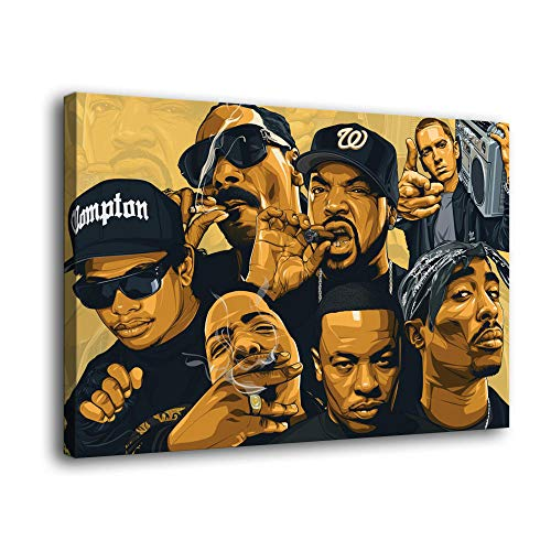 LOPIU Legends Never Die Rap Singer Rappers Hip-hop Art Canvas Art Poster and Wall Art Picture Print Modern Family Bedroom Decor Posters