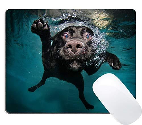 Gaming Mouse Pad Nette Welpen Haustier Custom Design Große Matte, lustige schwarze Labrador Retriever Hund Schwimmen mit ausdrucksstarken Gesicht Maus Pads