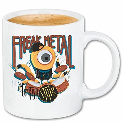 taza para café FREAK del estilo del metal tambor tambores BATERÍA drumer...