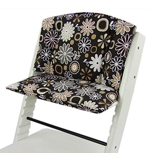 Babys-Dreams zitkussen pad vervangkussen kussen zitkussenset stok overtrek voor tripp trap hoge stoel *10 kleuren* 2-delig rond