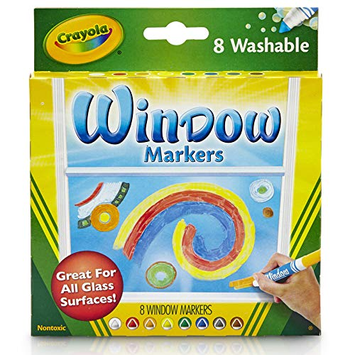 Crayola BIN588165BN Crayola 8 Count Washable Window Markers, MultiPk 4 Boxes