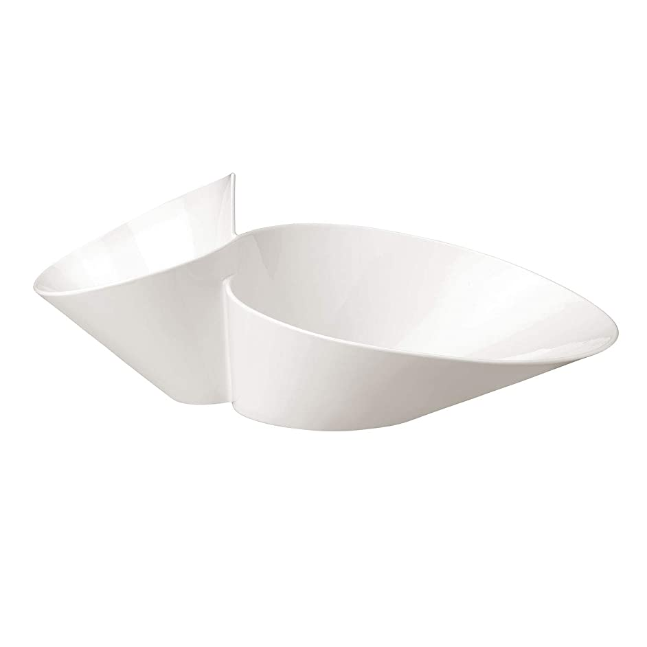 Villeroy & Boch 1025256500 New Wave Chip and Dip, 19.25 inches, White