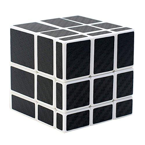 Coolzon Espejo Puzzle Cube Cubo Magico con Pegatina de Fibra de Carbono Velocidad