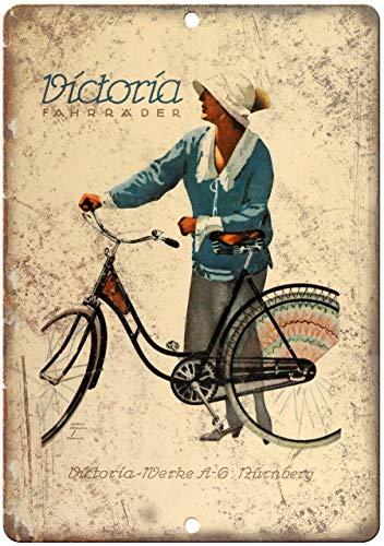 Decoratieve Vintage Retro Metalen Teken Victoria Fahrrader Fiets Vintage Art Ad Metalen Tin Teken 12 X 18 Inch