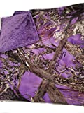 Baby True Timber Purple Camouflage Travel blanket,purple dot minky,Super soft Fleece camo and minky,double sided,reversible,deer hunting camo, baby gift,swaddling,receiving