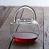 Té de té de vidrio resistente al calor Flor de té de té de...