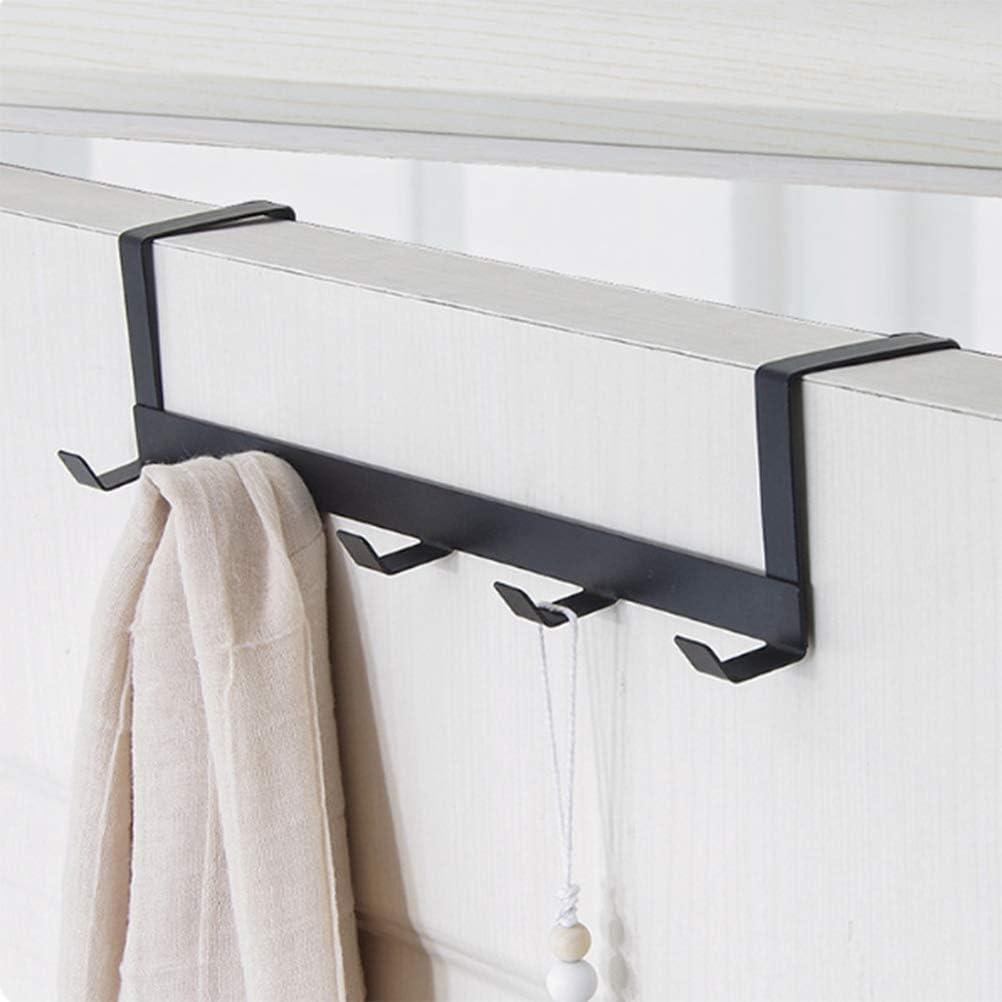 Sarplle Wandhaken mit 5 Haken1 St/ück T/ürhakenleiste Kleiderhaken ohne Bohren Garderobenhaken Geeignet f/ür Badezimmer Schlafzimmer Wohnzimmer