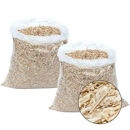 Jumbogras® Rindenmulch Garten Ersatz, aus reinem Häckselgut - pH neutral, unkrautbekämpfend und für sensible Pflanzen geeignet, 100% aus Biomasse mit bodenverbessernden Eigenschaften - MADE IN AUSTRIA