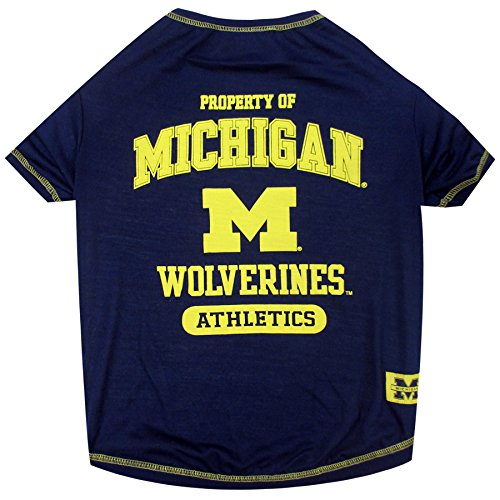 NCAA Michigan Wolverines Dog T-Shirt, Small