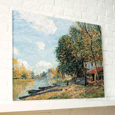 UtopiaShi Sisley Nordic Style Landscape Painting Living Room Electric Box Cover Painting Bedroom New Mural Children's Room paintings50*60cm