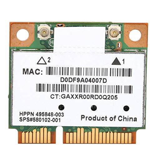 Sutinna Mini nätverkskort, AR5BHB92 300 Mbps WIFI dubbelt band 2,4G/5Ghz PCI-E trådlöst kort kompatibelt med stationär dator, bärbar dator, industriell styrbräda
