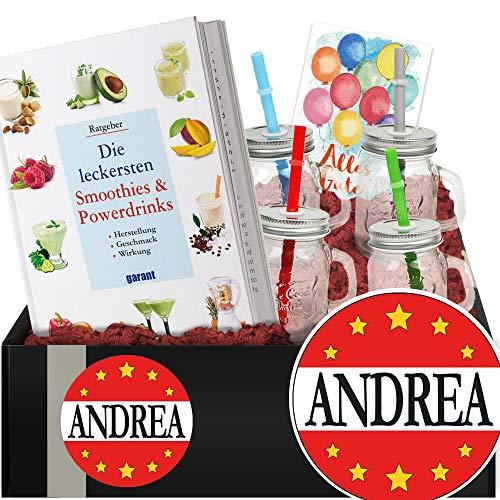 Andrea - Geschenkset Smoothies und Shakes - Geschenk für Andrea
