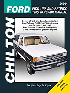 Chilton Ford Trucks and Bronco 1980-1996 Repair Manual (26664)