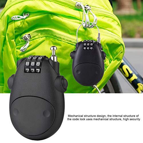 gilivableskr Mini Bundle Helmet Lock Password Lock Telescopic Wire Rope Cable De Acero Código De Bloqueo Maleta Trineo De Automóvil Casco De Motocicleta Password Lock 276 197in Reasonable
