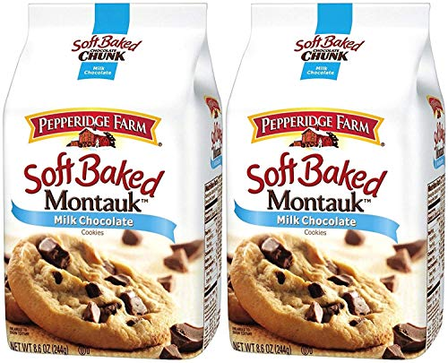 Pepperidge Farm Soft Baked Cookies, Montauk Milk Chocolate Chip, 8.6 Ounce (2 Bags)