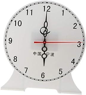 CUTICATE Kids Children's Teaching Time Clock Learn To Tell The Time Classoom Supplies - 12 Hour Clock B
