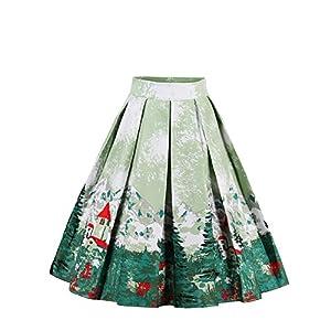 FeelinGirl Falda Estampada de Fiesta para Mujer 1950 Año Retro A-Línea | DeHippies.com