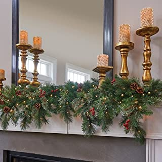 6 Ft LED Warm White Lighted Battery Operated Cascading Garland Christmas Holiday Decor