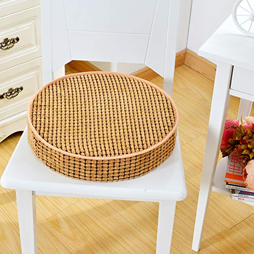 JYAcloth Non Slip Dining Chair Pad,Thicken Padded Seat Cushion Round Soft Office Seat Pads Patio Garden Tatami Floor Pillow Detachable Cushions