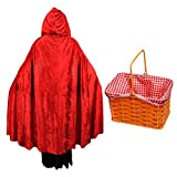 Ladies Sexy Gothic Red Cloak Fancy Dress Costume Accessory. Perfect for Dressing Up as a Devil, Witch, Vampiress, Vampire Lady. One Size Costume But Usually Fits Sizes 8, 10, 12, 14 and 16. Also Looks Great as an Addition To a Medieval Style Dress. (disfraz)