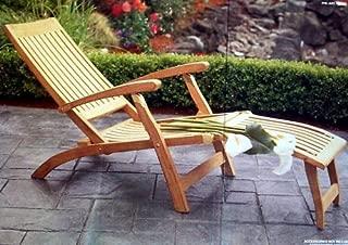 Multi Position Steamer Lounger Chair Grade-A Teak Wood - Furniture only #WFCHST