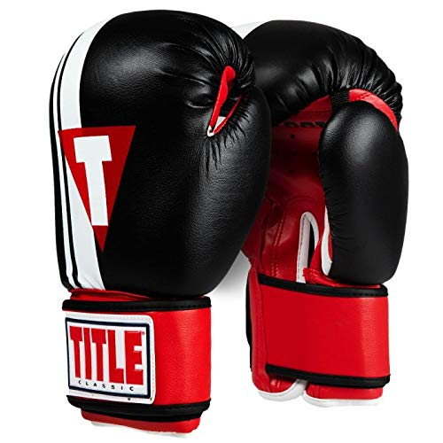 Title Boxing Classic Exceed Boxing Gloves, Black/Red, Regular